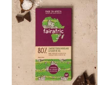 Fairafric vegane Bio-Zartbitterschokolade 80% Fleur de Sel