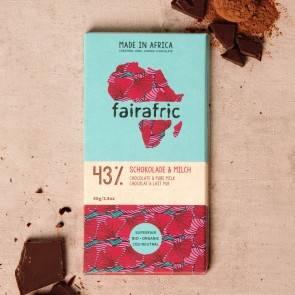 Fairafric Bio-Schokolade 43% mit Milch