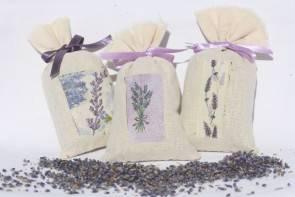 Lavendelsäckchen mit Serviettentechnik